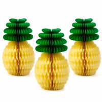 3x Fiesta Big Paper Pineapple Honeycomb Centerpiece Hawaiian Party Decorations