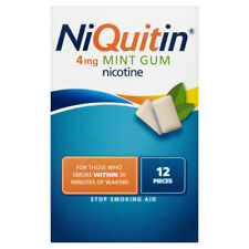 NiQuitin Fresh Mint Gum 4MG Medicated Chewing Gum 12 pack .