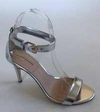 JCrew Mirror Metallic High Heel Sandals Women's 6 Silver Pumps Heels Summer