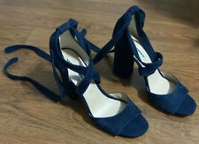 Karl Lagerfeld Paris Navy Blue Strap On Heels