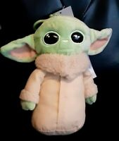 Star Wars Baby Yoda 8-Inch Plush Mandalorian The Child by Mattel With Clip Zippe