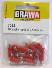 Red Plugs for MARKLIN - OLD STYLE 2,5 mm - 10 pcs. - Brawa 3052 - NEW
