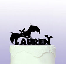 Personalised Bats Cake Topper - Halloween