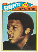 Tony Galbreath 1977 Topps #257 New Orleans Saints RC Rookie Football Card