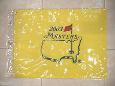 2003 MASTERS GOLF PIN FLAG AUGUSTA NATIONAL MIKE WEIR PGA RARE NEW
