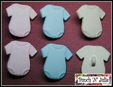 MIXED BABY VESTS - Girl Boy Newborn Birth New Novelty Dress It Up Craft Buttons
