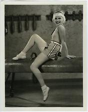 Large Original 1930s Blonde Wig Paulette Goddard Athletic Physical Culture Photo