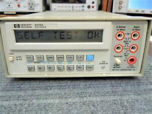 HP 3478A Digital Multimeter 5-/12 digit Tested & Working
