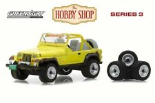 GREENLIGHT THE HOBBY SHOP 1991 JEEP YJ W MUD SPRAY & TIRES SERIES 3 1/64 97030D