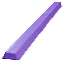 9ft Purple Balance Beam Extra Firm Vinyl Folding Gymnastics Beam Tumbling Home