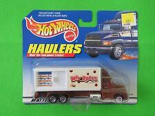 1997 Mattel Hot Wheels Haulers Container Transport Box Truck Whoppers Door Opens