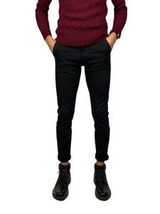 Pantalons pour Hommes Coton Corsaire Chino Skinny Slim Fit Jeans Élégant Poche