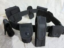 Swat Team Police  Officer Security Guard Gear Tactical Duty Belt Black 9 Piece