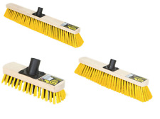 Outdoor Brush Broom Head Driveway Deck Large or Medium Soft/Hard Bristles