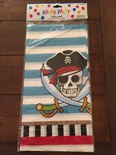 NEW Pirate Birthday Halloween Party Table Cover Tablecloth