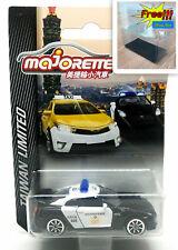 Majorette Nissan GT-R GTR Taiwan Police 1:61 214D Free Display Box