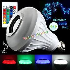 6W E27 RGB LED Wireless Bluetooth Control Smart Bulb Music Audio Speaker Light