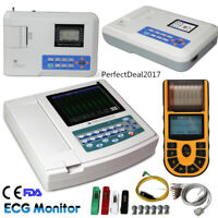 US Stock FDA ECG Machine 1/3/6/12 Channel Electrocardiograph EKG Monitor 12 Lead