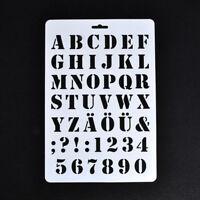 4X(Buchstabe Schablonen, Buchstaben- und Zahlenschablone, Malerei Papier Hand KB