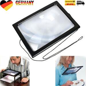A4 LED Standlupe Licht faltbar Lesehilfe Tischlupe Lupe Leselupe Senioren DHL