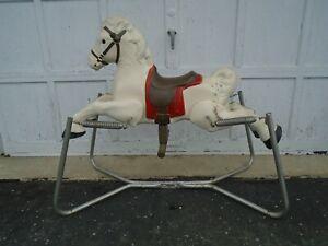 Vintage Spring Horse - Steel Rocking Ride-On