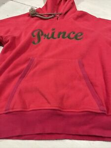 Prince Tennis Pink W/ Camo Green Long Sleeve Hoodie Sweatshirt Size S~~A9