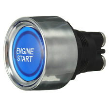 Compitition quality Engine Start Push Button Ignition Starter Kit blue LED