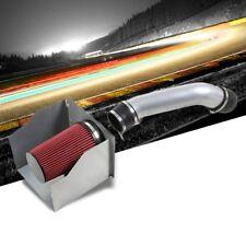 Silver Air Intake Aluminum Piping+Heat Shield For Hummer 03-09 H2 GMT 6.0L V8