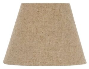 European Drum Chandelier Lamp Shade Beige Linen Color