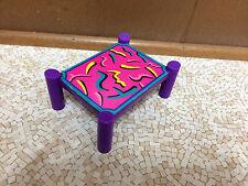 Barbie Doll Size Color Print Design Purple Side End Table Living Room Furniture