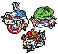 Avengers Captain America Iron Man Hulk embroidered iron on patch Marvel hero