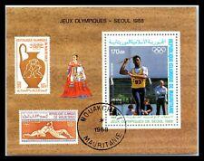 1988 MAURITANIA Souvenir Sheet - Olympic Games - Seoul, South Korea N1