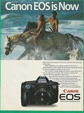 CANON EOS Camera 1987 Vintage Print Ad # 80 1