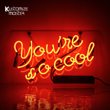 """14""""x9""""You're So Cool Neon Sign Light Party Home Room Wall Decor Handcraft Art"""