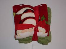"NEW Holiday Time Throw Pillow Combo Santa Claus Christmas Throw Size 50""x60"""