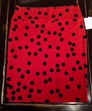 New listing Nwt 3Xl Red & Black Polka Dots LuLaRoe Cassie Skirt Unicorn Minnie Mouse Mickey