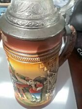 New listing Original King 7 German Beer Stein w/ Lid and Family Scene