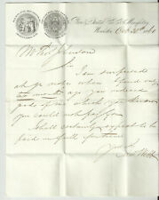 Vintage Paper Ephemera Letter to Macclesfield from Webbs of Worcester 1860