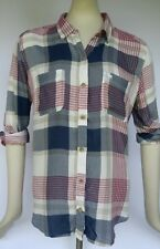 NEW NWT Abercrombie & Fitch Mixed Plaid Pocket Shirt  women's size M Medium