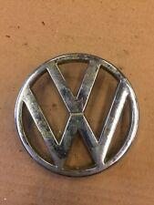 VW GOLF JETTA MK2 FRONT GRILL ROUND VOLKSWAGEN CHROME BADGE EMBLEM 321853601