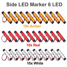 30x 12V Red Amber White Side Trailer Truck Turn Light LED Marker Clearance Lamp