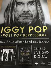 IGGY POP  2016  PROMO + orig.Concert Poster - RIESEN POSTER  168 X 118