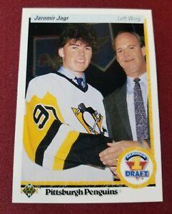 1990-91 UD Number #1 Draft #356 JAROMIR JAGR RC ROOKIE CARD Pittsburgh Penguins