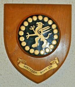 Northern Bank Ltd plaque shield crest coat of arms banking memorabilia Griffin