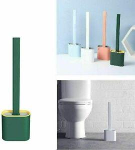 Silicone Toilet Brush with Toilet Brush Holder Creative Cleaning Brush Set