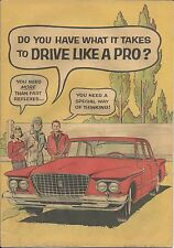 DO YOU HAVE WHAT IT TAKES TO DRIVE LIKE A PRO RARE 1961 GIVEAWAY PROMO CHRYSLER
