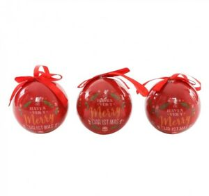 Liverpool FC Baubles Christmas Tree Xmas Decorations 3 Pack Ornament YNWA NEW UK