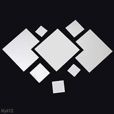 7Pcs/Set Diamond Modern Plastic Mirror Wall Home Decal Decor Vinyl Art Sticker