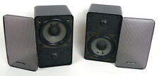 Radio Shack Realistic Minimus 7 Black Speakers, Cat. No. 40-2030B—Set of 2