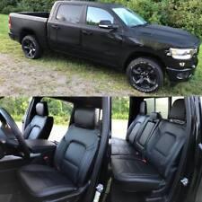 2020 Ram 1500 Big Horn / Lone Star Black Katzkin Leather Seat Replacement Covers